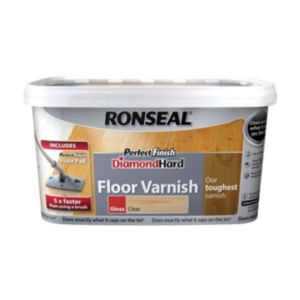 View Ronseal Diamond Hard Perfect Finish Clear Gloss Floor Varnish 2.5L details