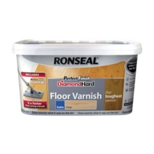 View Ronseal Diamond Hard Perfect Finish Clear Satin Floor Varnish 2.5L details