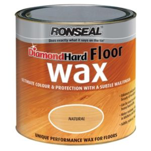 View Ronseal Diamond Hard Natural Oak Matt Hard Floor Wax 2.5L details