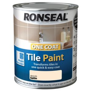 View Ronseal One Coat Magnolia Satin Tile Paint 750ml details