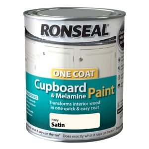 View Ronseal One Coat Ivory Satin Cupboard Paint 750ml details