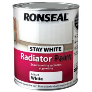 View Ronseal Brilliant White Gloss Radiator Paint 750ml details