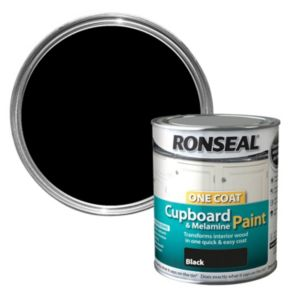 View Ronseal One Coat Black Satin Cupboard Paint 750ml details