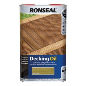 View Ronseal Ultimate Protection Natural Decking Oil 5L Tin details