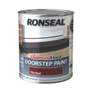 Ronseal Doorstep Paint Tile Red Satin Doorstep Paint 750ml