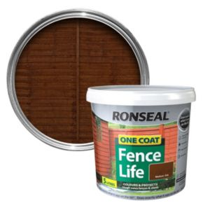 View Ronseal 1 Coat Medium Oak Matt Shed & Fence Stain with Preserver 5L details