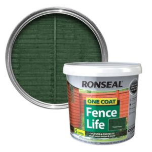 View Ronseal 1 Coat Forest Green Matt Shed & Fence Stain with Preserver 5L details