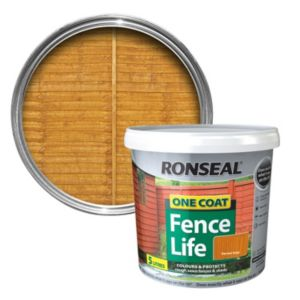 View Ronseal 1 Coat Harvest Gold Matt Shed & Fence Stain with Preserver 5L details