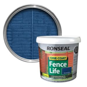 View Ronseal 1 Coat Mountain Blue Satin Shed & Fence Stain with Preserver 5L details