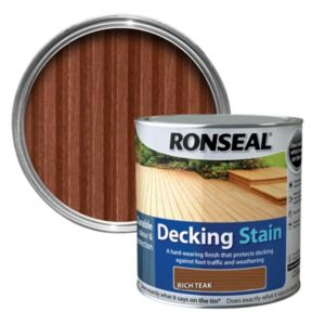 View Ronseal Rich Teak Matt Decking Stain 2.5L details