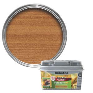 Ronseal Perfect Finish Teak Lightly Tinted Hardwood Garden Furniture Oil 750ml