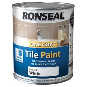 View Ronseal One Coat White Satin Tile Paint 750ml details