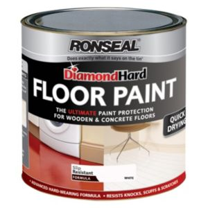View Ronseal Diamond Hard White Satin Floor Paint 750ml details