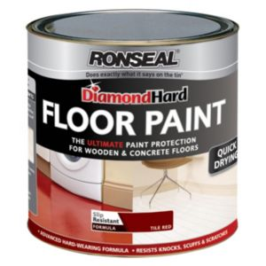 View Ronseal Diamond Hard Tile Red Satin Floor Paint 750ml details