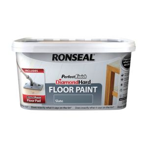 View Ronseal Diamond Hard Perfect Finish Slate Satin Floor Paint 2.5L details