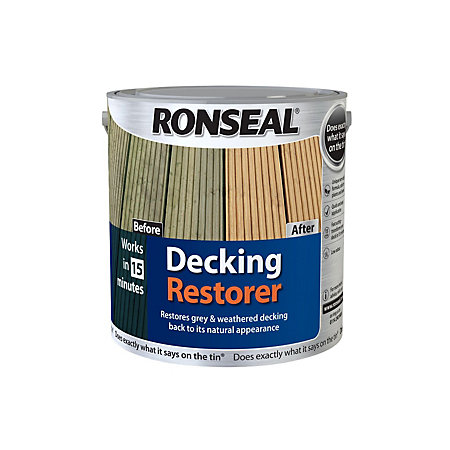 Ronseal Clear Decking Restorer 2500ml Departments Tradepoint