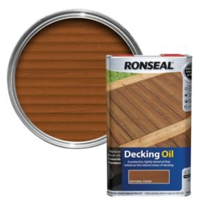 View Ronseal Natural Cedar Decking Oil 5L details