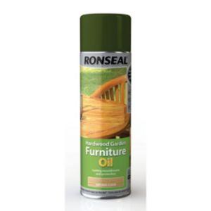 Ronseal Clear Matt Hardwood Garden Furniture Oil 500ml Aerosol