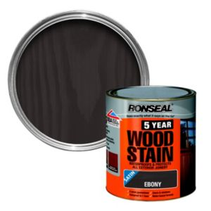 View Ronseal 5 Year Ebony High Satin Sheen Woodstain 750ml details