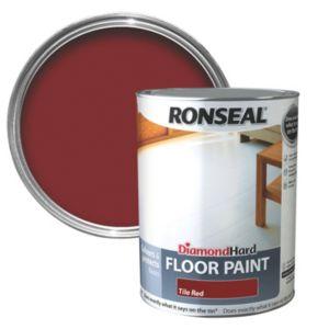 Ronseal Diamond Tile Red Satin Floor Paint 5L