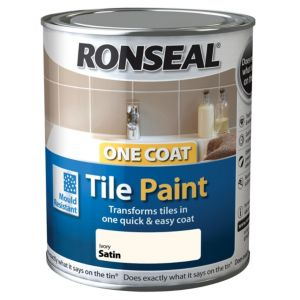 View Ronseal One Coat Beige Satin Tile Paint 750ml details