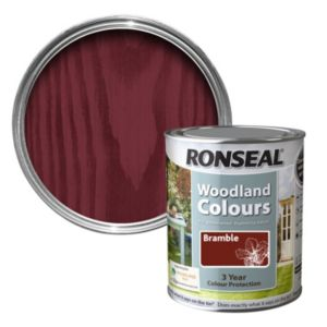 View Ronseal Woodland Colours Bramble Matt Woodstain 750ml details