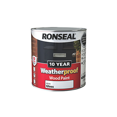 Ronseal Exterior Wood Paint Exterior Pure Brilliant White Gloss Exterior Wood Paint 2 5l