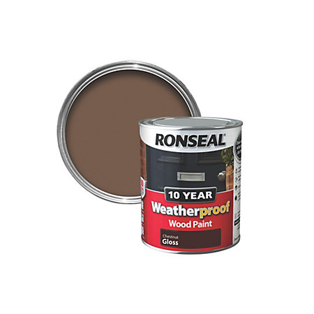 Ronseal Chestnut Gloss Wood Paint 750ml Departments Tradepoint
