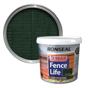 View Ronseal 5 Year Weather Defence Fence Life Forest Green Shed & Fence Stain 5L details