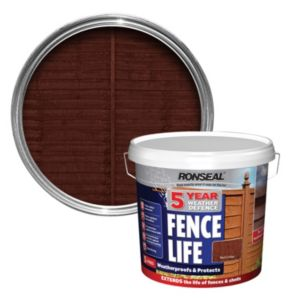 View Ronseal 5 Year Weather Defence Fence Life Red Cedar Shed & Fence Stain 5L details