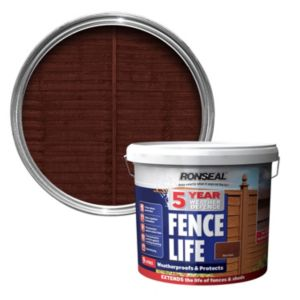View Ronseal 5 Year Weather Defence Fence Life Red Cedar Shed & Fence Stain 9L details