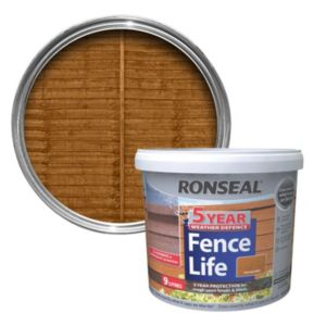 View Ronseal Fence Life Harvest Gold Matt Shed & Fence Stain with Preserver 9L details