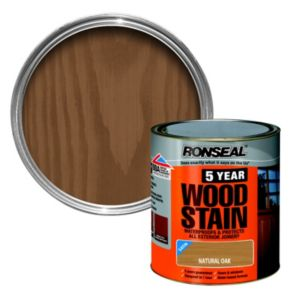 View Ronseal 5 Year Natural Oak High Satin Sheen Woodstain 250ml details