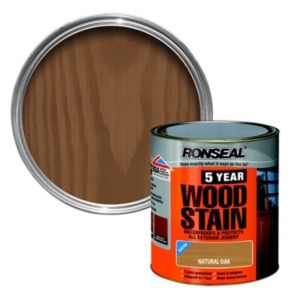 View Ronseal 5 Year Natural Oak High Satin Sheen Woodstain 2.5L details