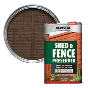 View Ronseal Light Brown Matt Shed & Fence Stain with Preserver 5L details