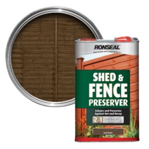 View Ronseal Dark Brown Shed & Fence Preserver 5L details