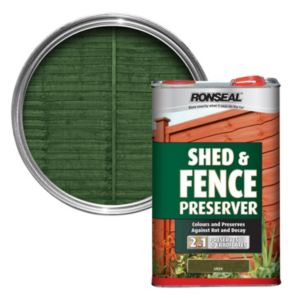 View Ronseal Green Matt Shed & Fence Stain with Preserver 5L details