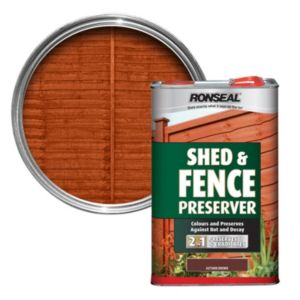 View Ronseal Autumn Brown Matt Shed & Fence Stain with Preserver 5L details