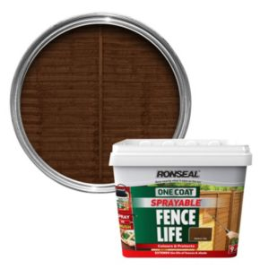 View Ronseal One Coat Sprayable Fence Life Medium Oak Shed & Fence Stain 9L details