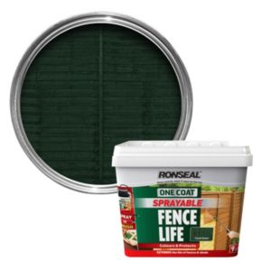 View Ronseal One Coat Sprayable Fence Life Forest Green Shed & Fence Stain 9L details