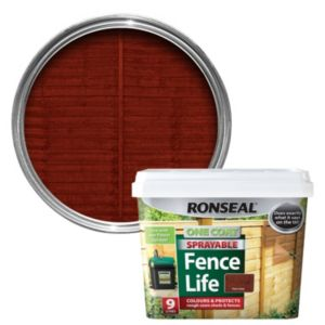 View Ronseal One Coat Sprayable Fence Life Red Cedar Shed & Fence Stain 9L details