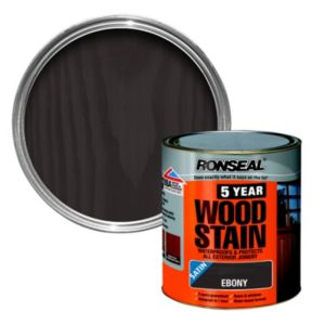 View Ronseal 5 Year Ebony High Satin Sheen Woodstain 2.5L details