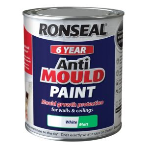 Ronseal Problem Wall Paints White Matt AntiMould Paint 750ml