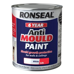 View Ronseal Anti Mould White Silk Anti-Mould Paint 750ml details
