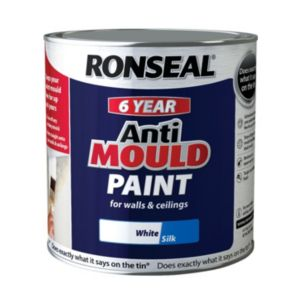 Ronseal Problem Wall Paints White Silk AntiMould Paint 2.5L