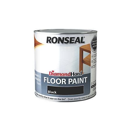 Ronseal Diamond Black Satin Floor Paint2 5l Departments
