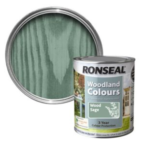 View Ronseal Woodland Colours Wood Sage Matt Woodstain 750ml details