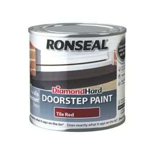 Ronseal Doorstep Paint Tile Red Satin Doorstep Paint 250ml