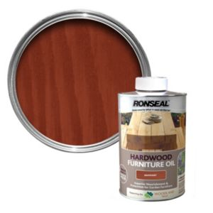 View Ronseal Hardwood Mahogany Light Tinted Finish Furniture Oil 1L details
