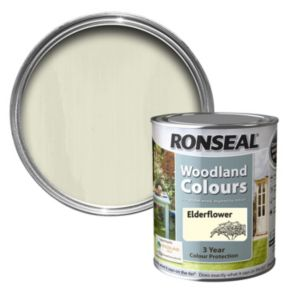View Ronseal Woodland Colours Elderflower Woodstain 750ml details